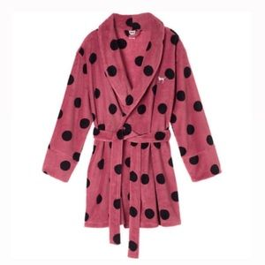 PINK Victoria's Secret Size XS Polka Dot Robe